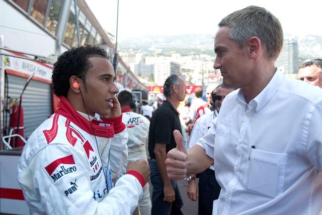 Lewis Hamilton and Martin Whitmarsh
